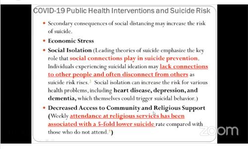 Workshop on Suicide Prevention