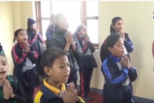 Activity by Divine Child Club at Janapirya ma.vi. Hetauda